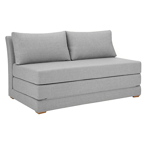 Buy john lewis kip small sofa bed fraser french grey for Sofa bed john lewis