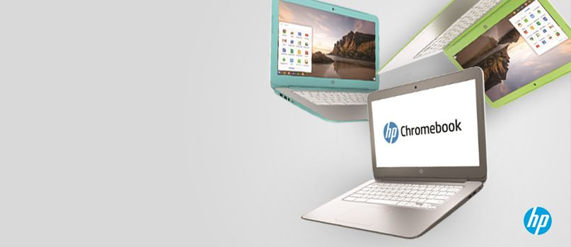 Bigger screen. Faster HP Chromebook