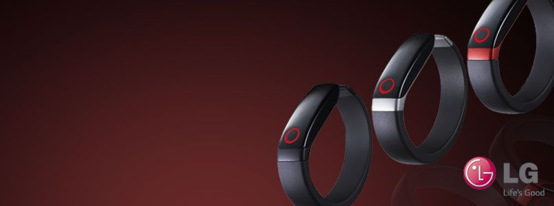 Take control of personal fitness with LG%27s revolutionary Lifeband Touch Activity Tracker