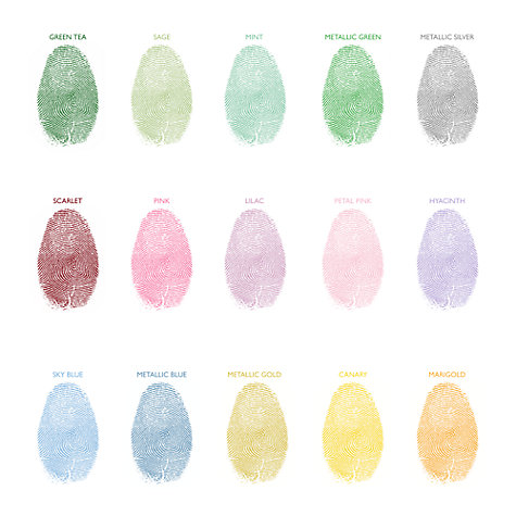 Buy Lillypea Personalised Heart Balloons Fingerprint Framed Print, 43 x 33cm Online at johnlewis.com