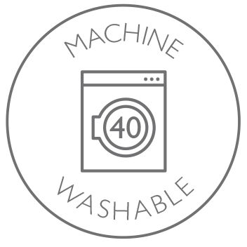 Machine washable at 40 degrees