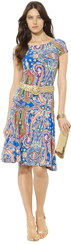 Lauren Ralph Lauren Brooklina Dress, Royal Multi