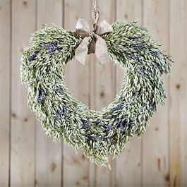 Winterflora Oat And Lavender Dried Heart, Green
