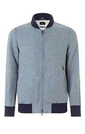 Gant Chambray  Bomber Jacket, Blue