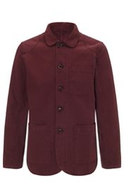 Garment Dye Work Wear Jacket, Oxblood Red