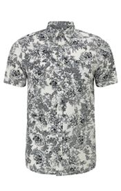 Wild Rose Short Sleeve Shirt, Wax/Colony