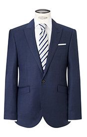 John Lewis Tailored Fit Sharkskin Suit Jacket, French Blue