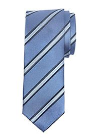 Daniel Hechter Regimental Stripe Silk Tie, Blue