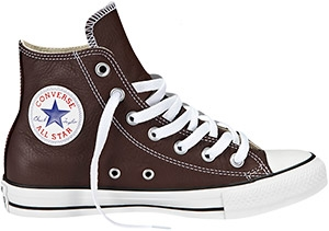 Converse Chuck Taylor All Star Leather Hi-Top Trainers, Burnt Umber