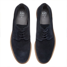 Kin by John Lewis Bobby Suede Derby Shoes, Navy