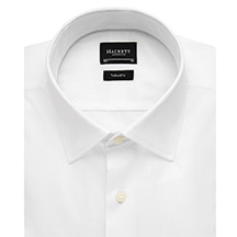 Hackett London Plain Poplin Shirt, White