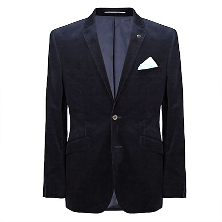 John Lewis Corduroy Tailored Jacket, Navy