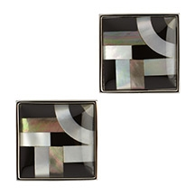 Simon Carter Bauhaus Onyx and Mother of Pearl Cufflinks