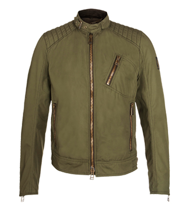 Belstaff Kirkham Cotton Canvas Jacket, Light Olive