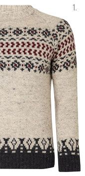 JOHN LEWIS & CO. Jacquard Yoke Crew Neck Jumper