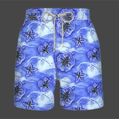 Vilebrequin Moorea Floral and Stingray Print Swim Shorts