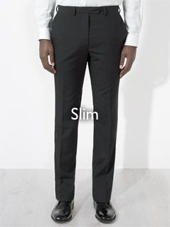 Slim fitting trousers