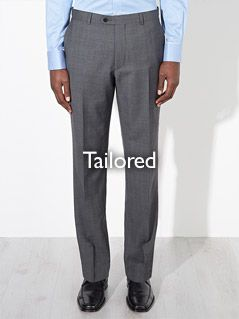 Tailored fitting trousers