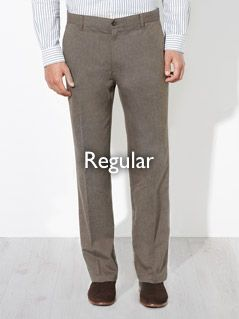 Regular fitting trousers