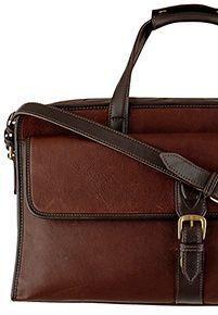 Hidesign Harrison Leather Holdall, Brown
