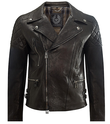 Belstaff Thornwood Leather Biker Jacket, Black