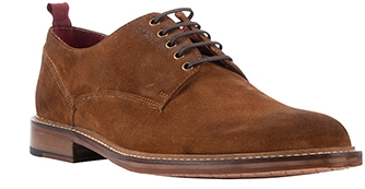 JOHN LEWIS & Co. Surrey Burnished Suede Derby Shoes, Brown