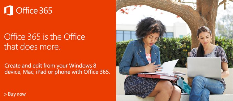 Office 365 is the office that does more, create and edit form a windows 8 device, Mac, iPad of phone