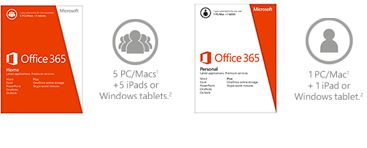 Office 365 home and personal editions