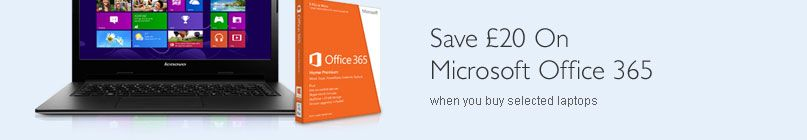 Save £20 on office 365 software with selected computers