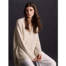 Buy Modern Rarity Cashmere Horizontal Jumper, Cream Online at johnlewis.com