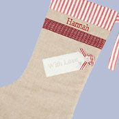 Cambric & Cream Personalised With Love Stocking