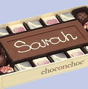 Choc on Choc Personalised 10 Block Milk Chocolate Bar and Truffles, 320g