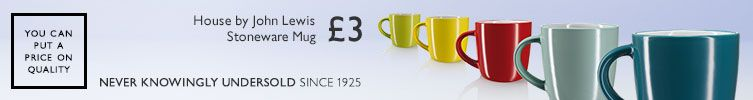 You can put a price on quality. Never Knowingly Undersold since 1925. £3, House by John Lewis Stoneware mug