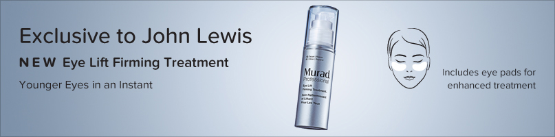 Exclusive to John Lewis. New Eye Lift Firming Treatment. Younger Eyes in a instant. Shop now