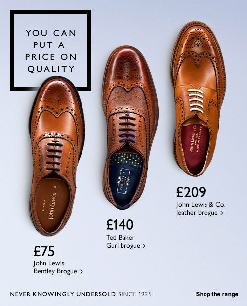 Never knowingly undersold - Shop men's brogues