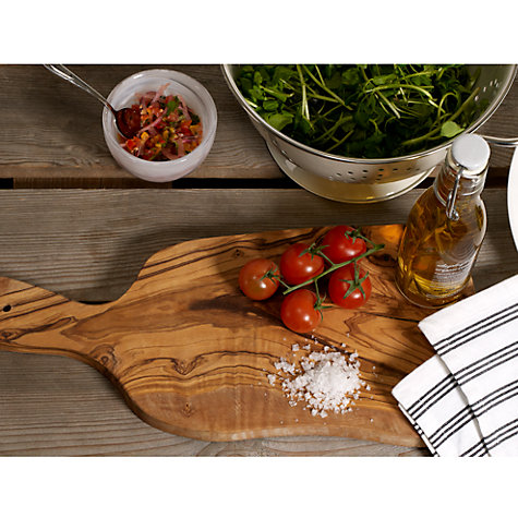Buy ICTC Rustic Olive Wood Paddle Chopping Board Online at johnlewis.com