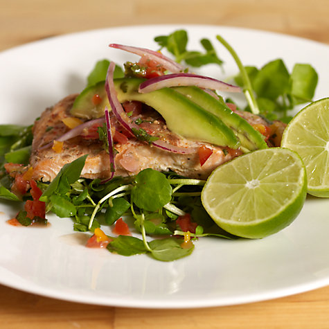 Buy Steamed Salmon with Avocado Salsa Online at johnlewis.com