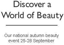 Our national spring beauty event 20-23 March