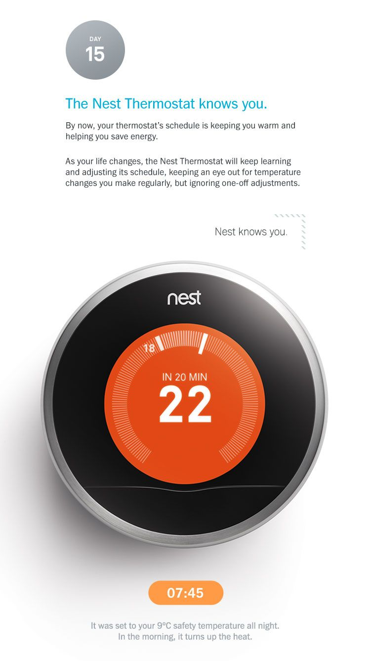 The Nest thermostat knows you