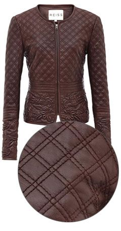 Reiss onyx quilted leather jacket