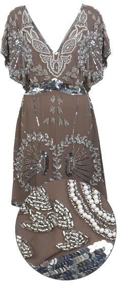miss selfridge embellished dress