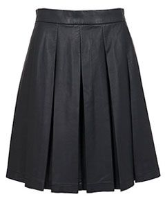French Connection Roller Skater Skirt, Black