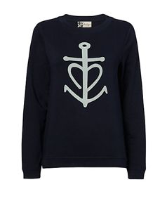 Boutique by Jaeger Anchor Sweatshirt, Navy