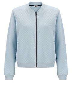 Kin by John Lewis Quilted Bomber Jacket, Light Blue