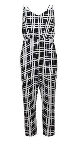 True Decadence Square Print Jumpsuit, Black Square