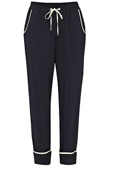 French Connection Spring Winter Tie Trousers, Utility Blue