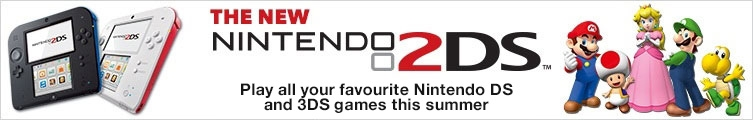 The new Nintendo 2DS – Play all your favourite Nintendo DS and 3DS games this summer in 2D