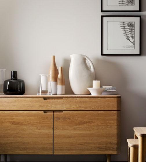 Oak furniture solid oak and veneer john lewis for Living room ideas with oak furniture