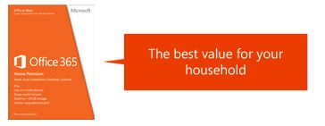 Office 365, The best value for your household