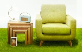 Image of chair and table from John Lewis financial services creative